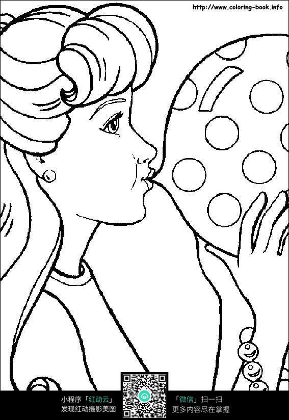 气球简笔画手绘