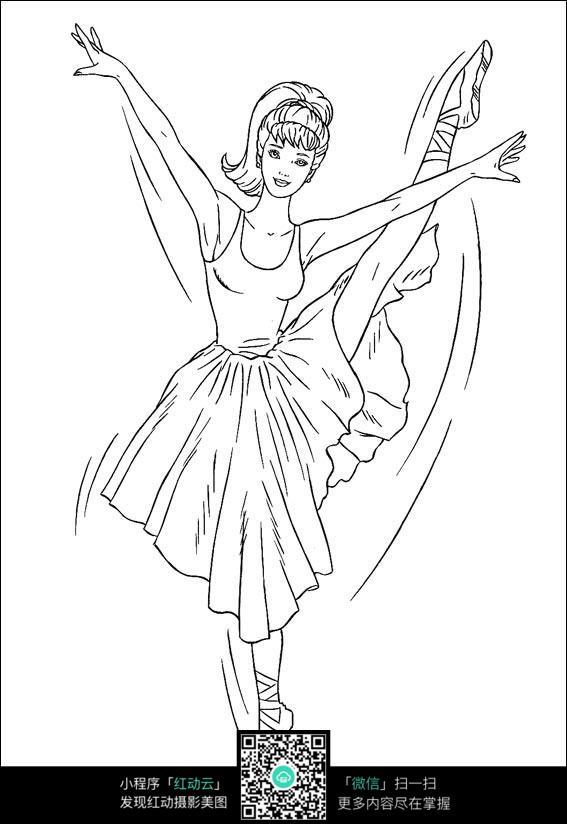 女孩跳芭蕾舞