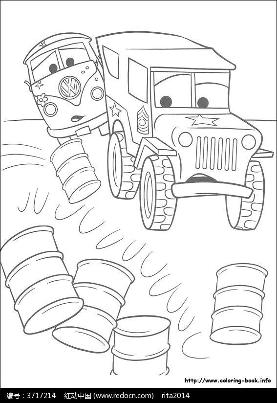 赛车总动员飞机简笔画_赛车总动员卡通汽车线描