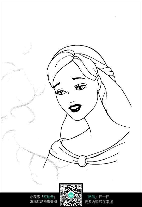 免费素材 图片素材 漫画插画 人物卡通 伤心的芭比娃娃