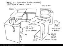 手绘工业产品结构简笔画
