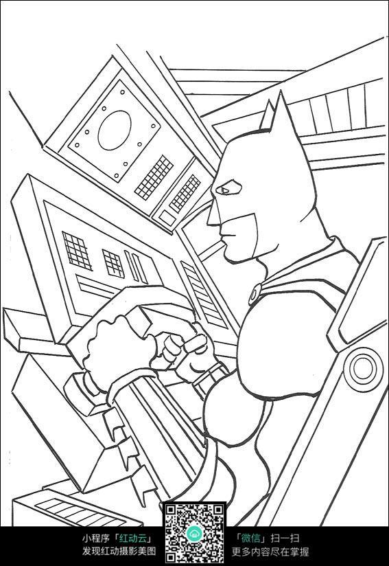蝙蝠侠开飞机_人物卡通图片