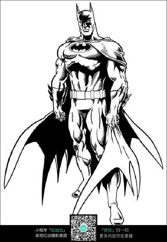 蝙蝠侠人物线描