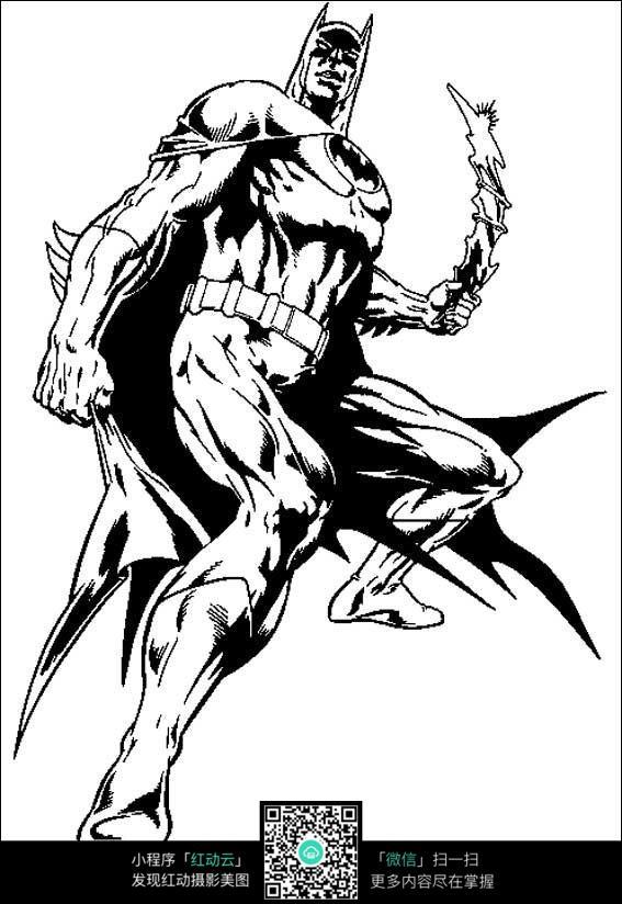 蝙蝠侠手绘线描