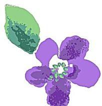 印象派紫色花朵装饰psd素材
