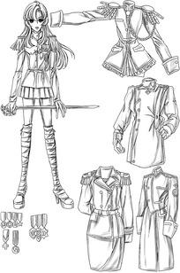 游戏中女孩服装道具