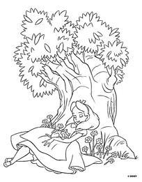 卡通小女孩抱着猫坐在树下