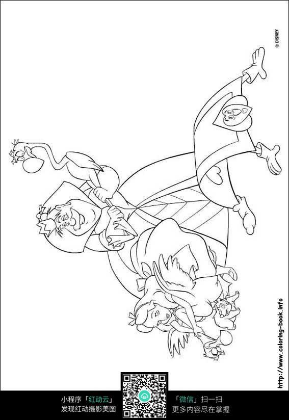茉莉公主动漫线描_人物卡通图片