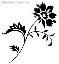 墙绘植物花纹psd素材