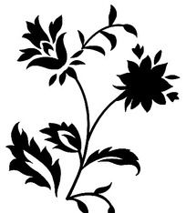 手绘植物花纹装饰psd素材