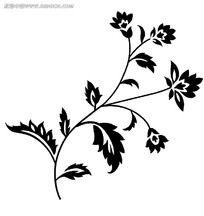 植物花纹psd素材