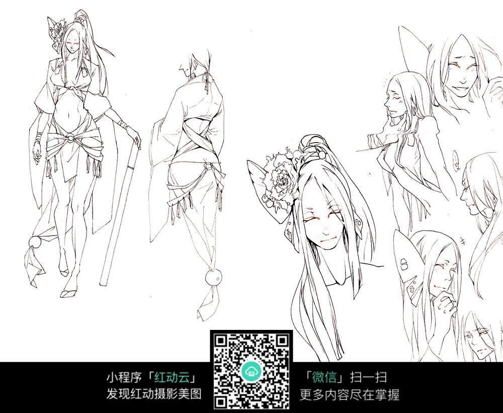 动漫人物角色设计图片