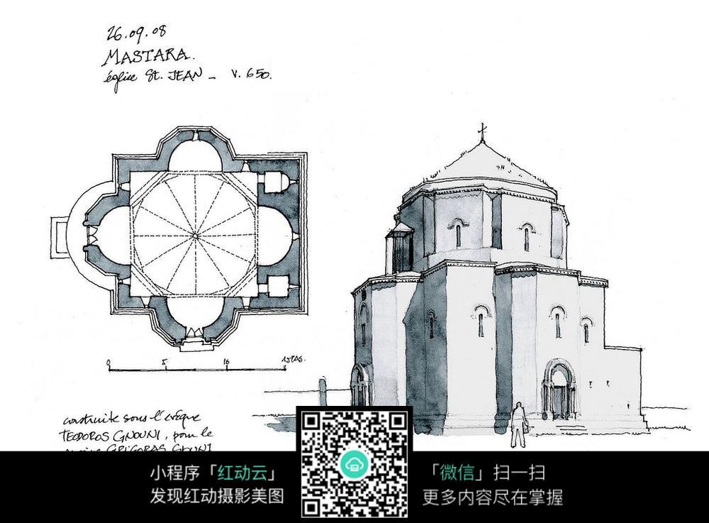 国外小城堡设计平面图图片
