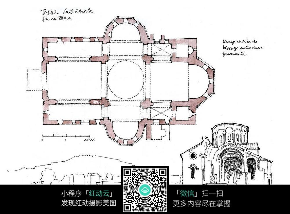 国外小教堂设计平面图
