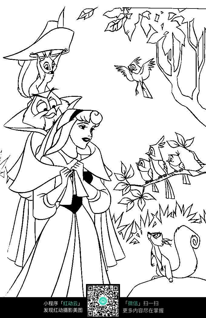 幼儿园主题墙卡通/画画图片大全动物/森林图片简笔画/漂亮的儿童画