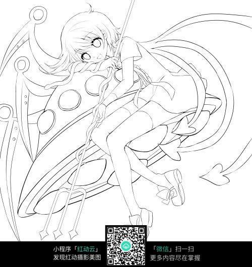 魔法女少女飞碟漫画手稿