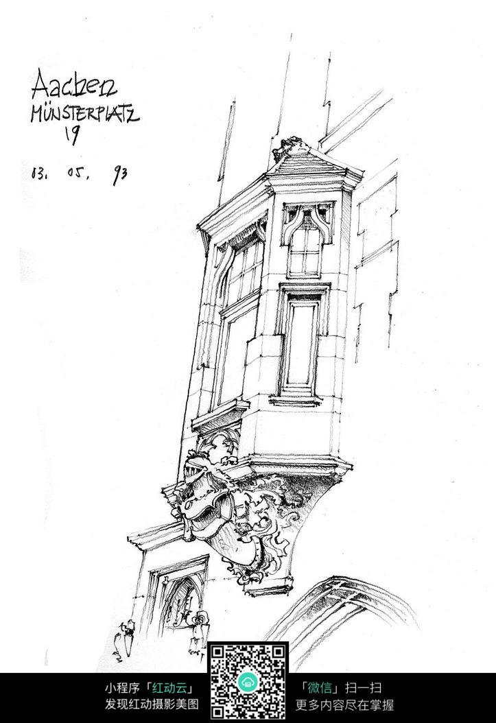 欧式建筑墙面石雕手绘图
