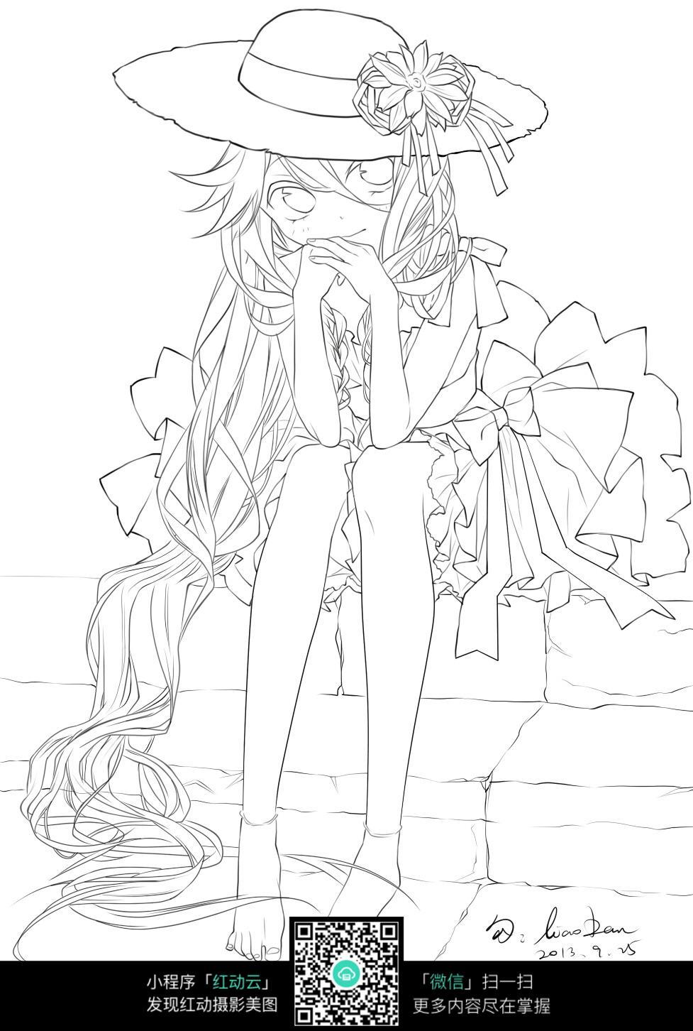 少女漫画服饰手绘图图片_人物卡通图片