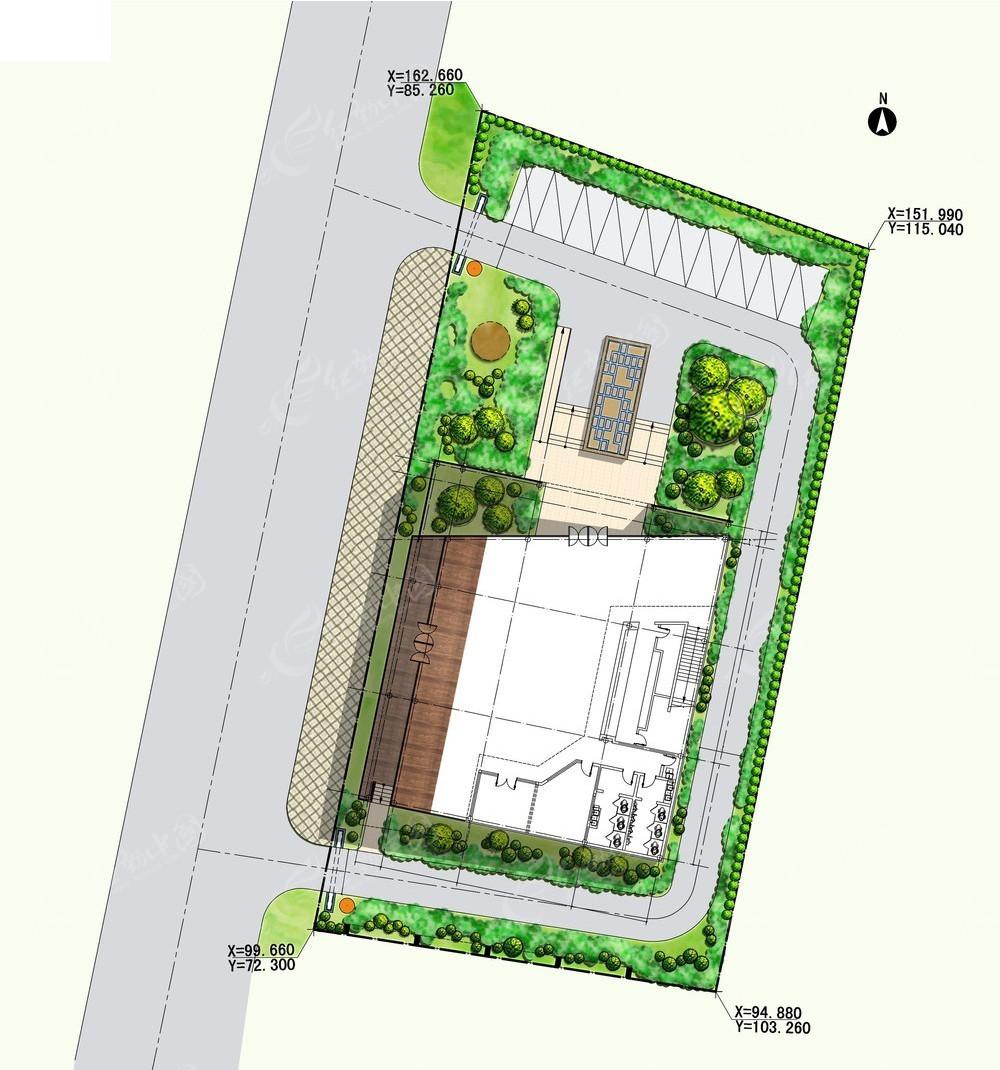 室外建筑平面图psd免费下载_园林景观素材
