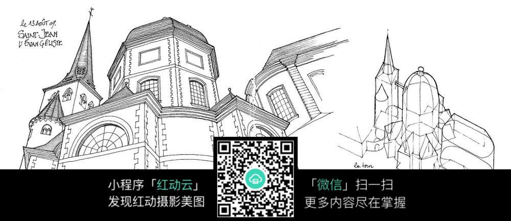手绘建筑_活动场景图片