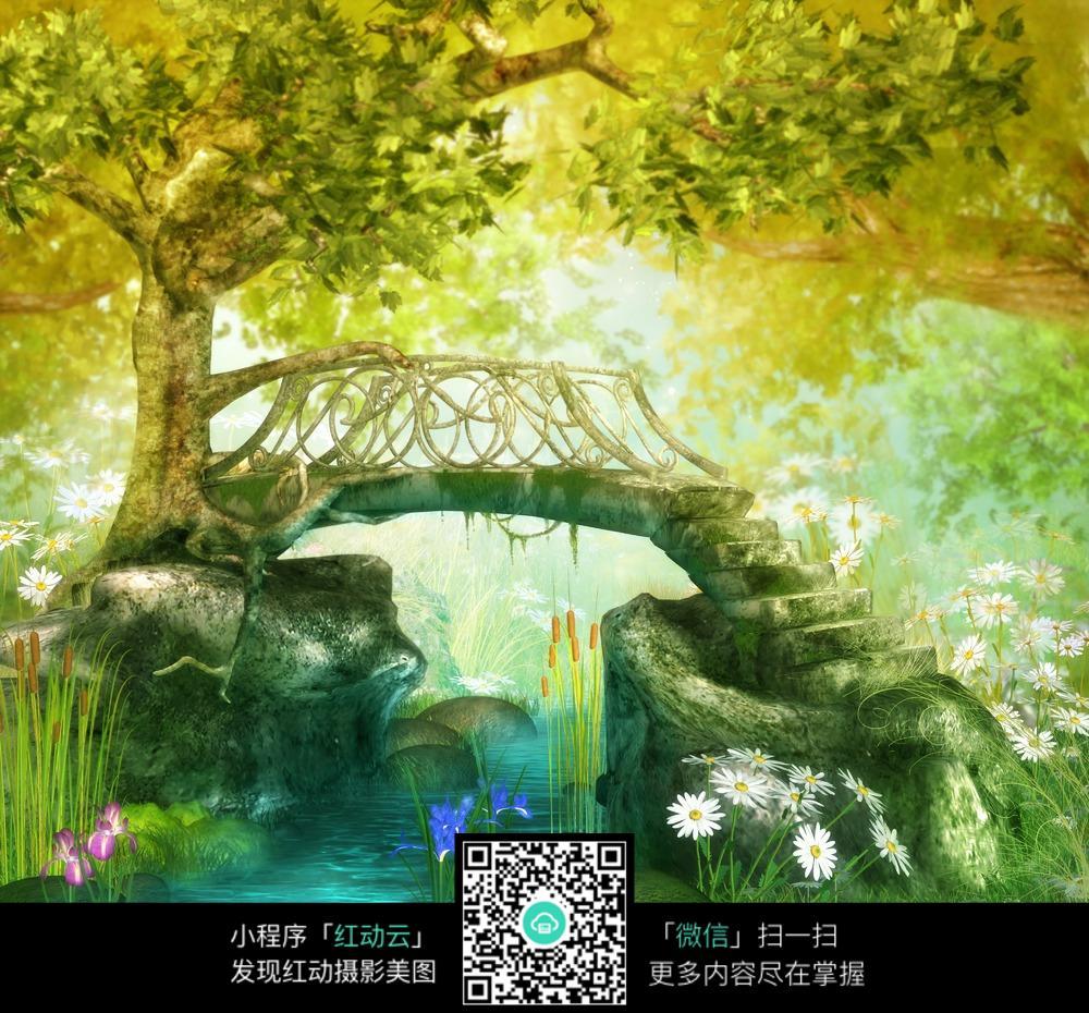 唯美童话森林背景图片