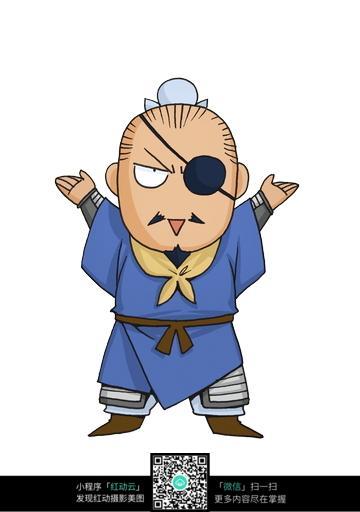 夏侯惇卡通人物插画jpg图片