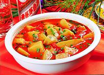 西红柿烩搅团