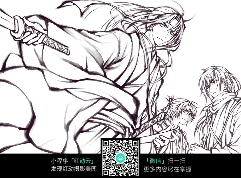中国古代人物漫画手绘图图片