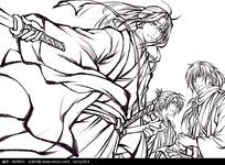 中国古代人物漫画手绘图