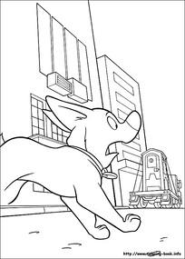 奔跑的小狗卡通手绘线描图