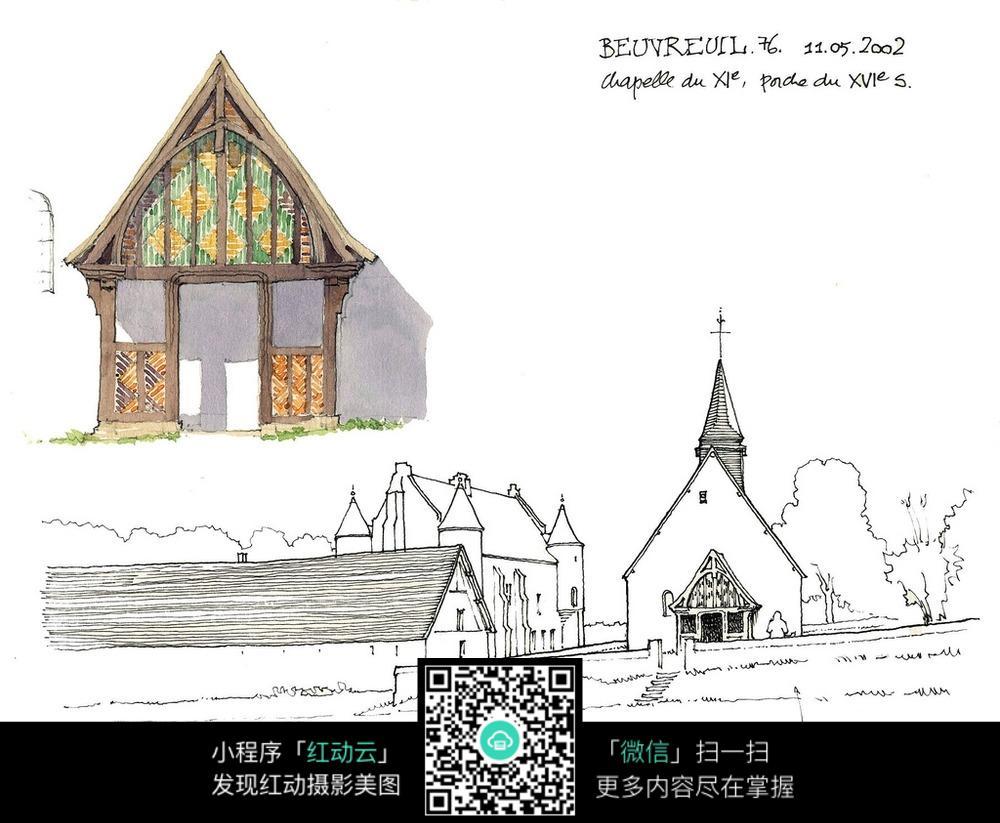 彩色教堂设计图