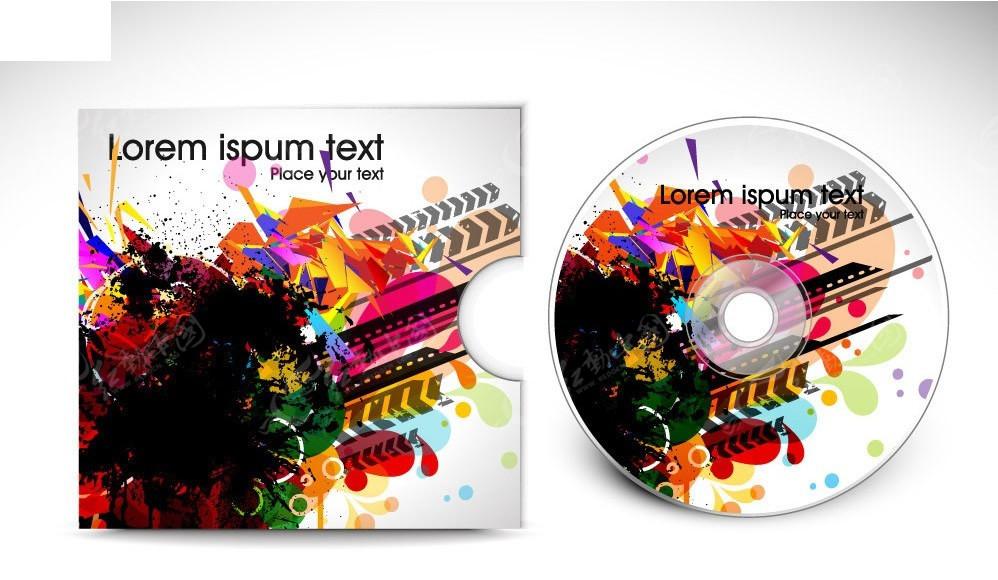 炫彩音乐光碟封面设计图片