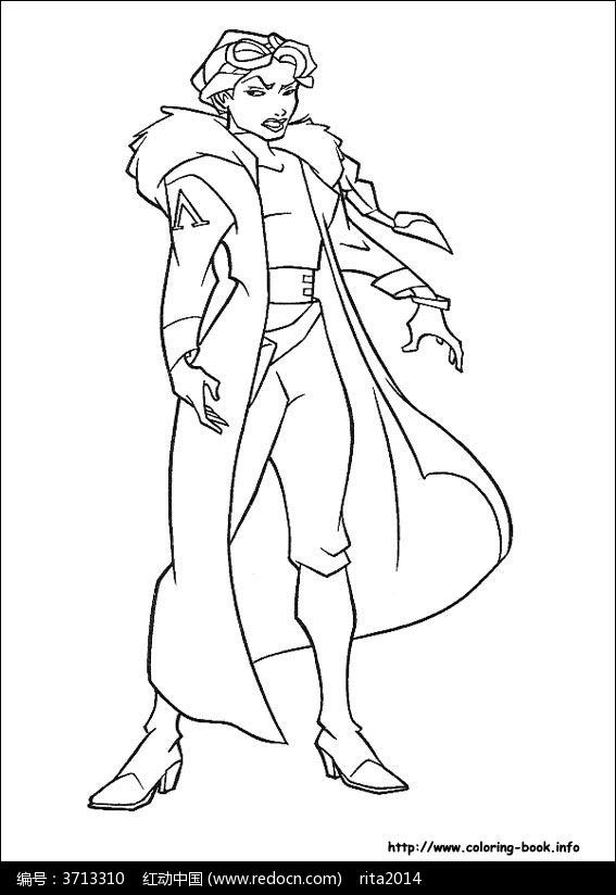 卡通 漫画 手绘 素材 速写 涂鸦 线画 线描 线稿 写生  穿着风衣的