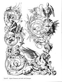 动物花纹装饰图案素材