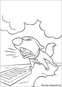 发怒的小狗卡通手绘线描图