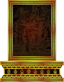 佛教水石图案