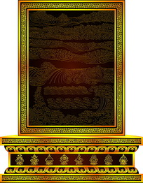 佛教水纹图案