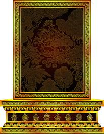佛教树林图案