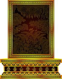 佛教树木线稿图