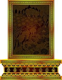 佛教图案山水图