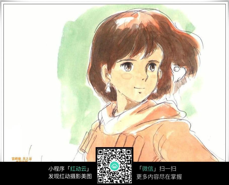 宫崎骏漫画人物彩色稿