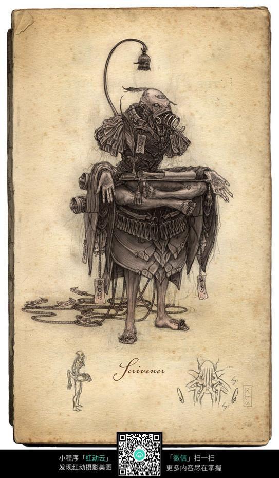 怪物手绘填色图
