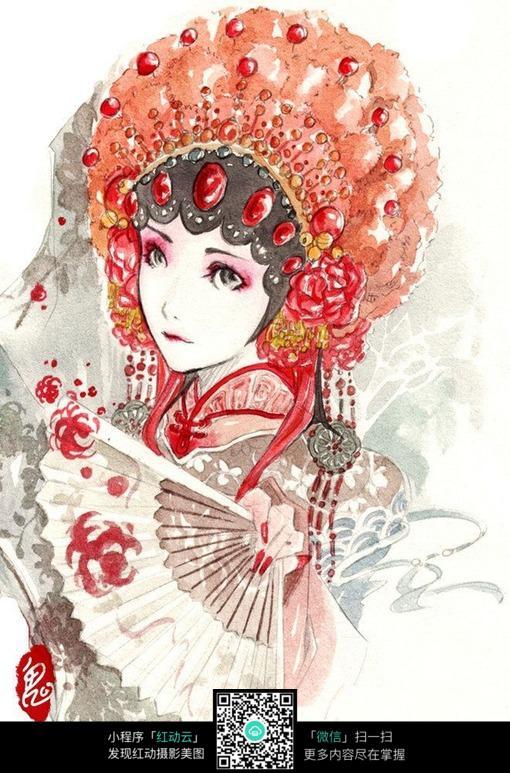 古典唱戏装扮的女子图片