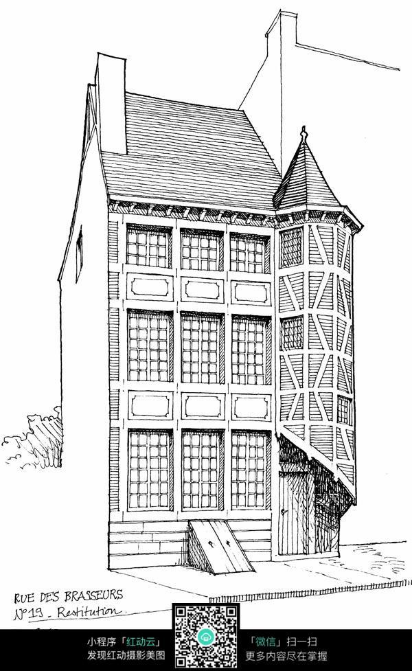 国外建筑设计线稿