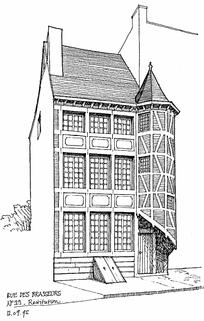 欧式古典建筑手绘设计图图片图片