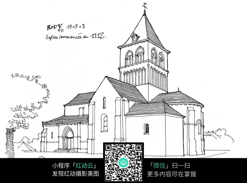 国外建筑手绘稿图片免费下载 编号3700954 红动网
