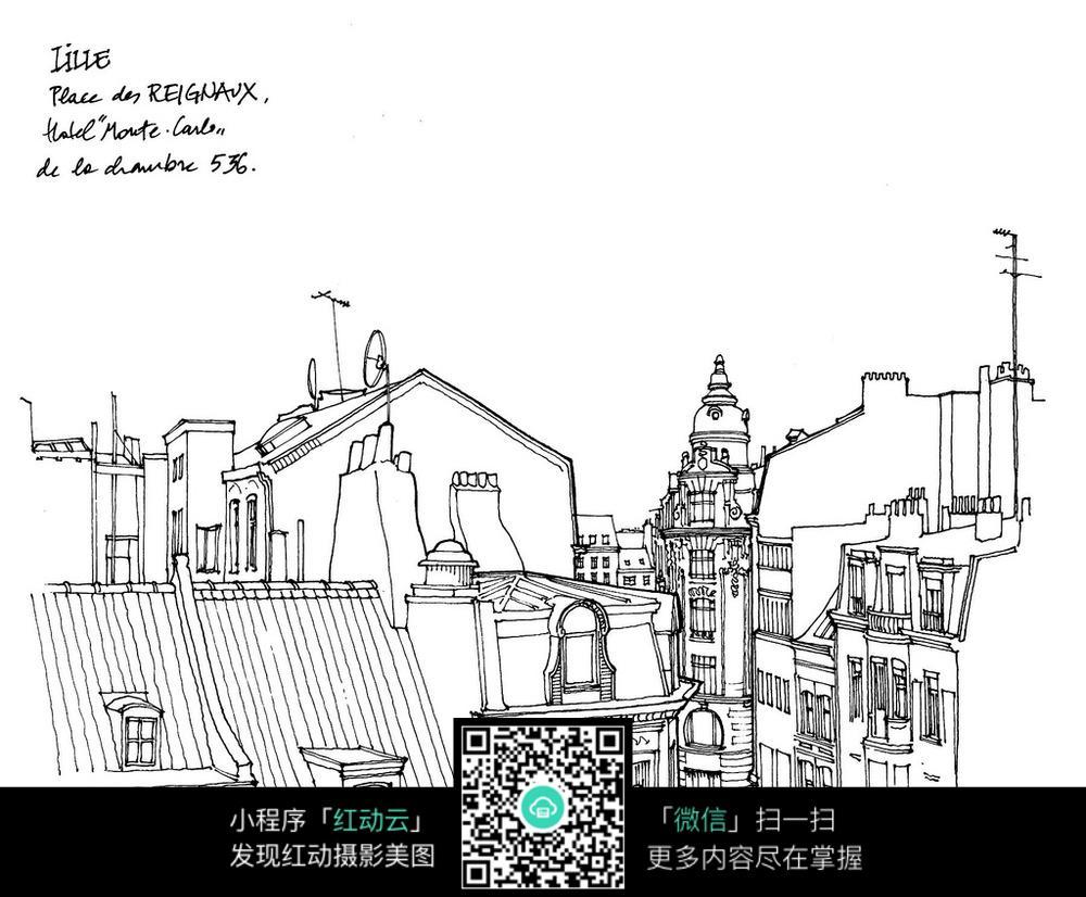 建筑设计平面图 国外教堂建筑 jpg 场景 场景图片 场景绘画 插画图片