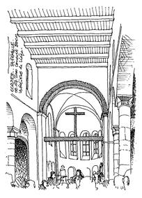 国外教堂手绘设计图图片