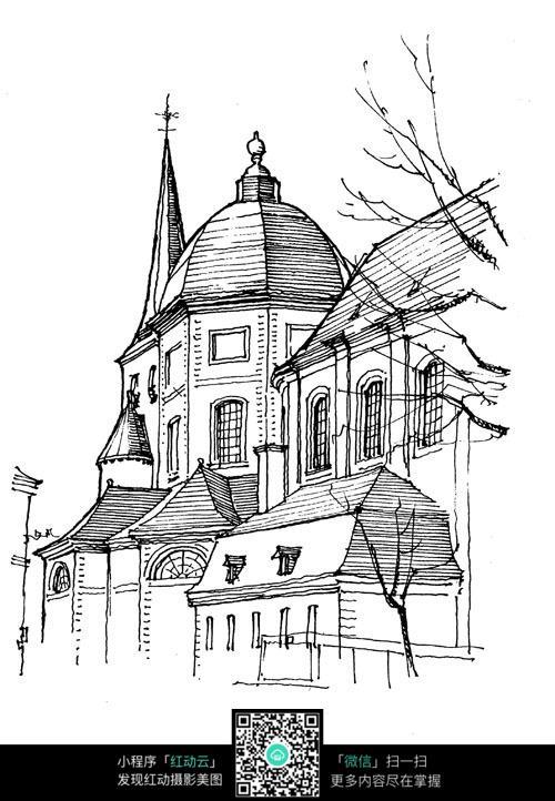 国外造型建筑写生图
