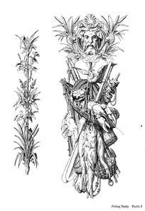 花草人像野味装饰图案素材